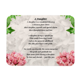 Flowers - Daughter Poem Magnet