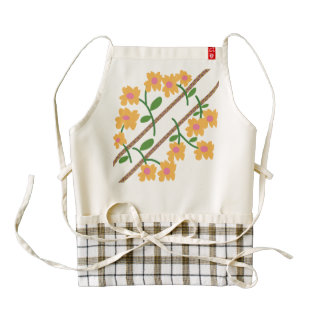 Flower's Day Zazzle HEART Apron