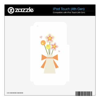 flowers decal for iPod touch 4G