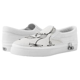 flowers deco Slip-On sneakers