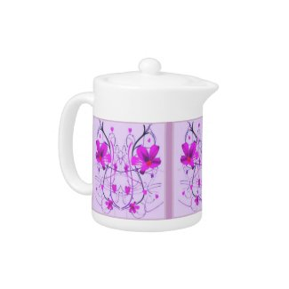 Flowers Deco Tea Pot teapot