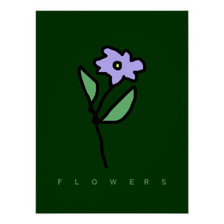 flowers décor walls poster