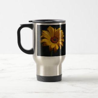 flowers dew rain aluminum travel mug