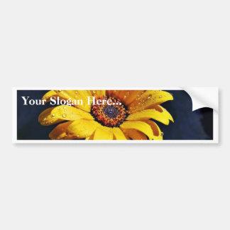 Flowers Dew Rain Bumper Sticker
