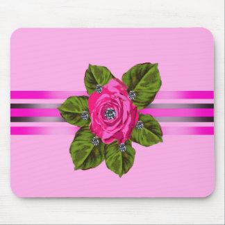 Flowers_diamonds_cute_ribbon_design de alfombrilla de ratones