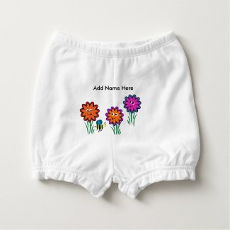 Flowers Diaper Cover
