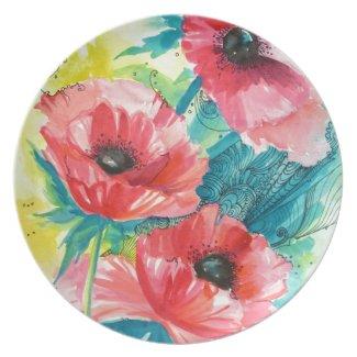 Flowers Dinner Plates