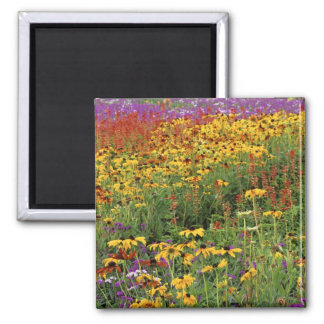 Flowers Display at International Peace Gardens 2 Inch Square Magnet