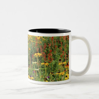 Flowers Display at International Peace Gardens Two-Tone Coffee Mug