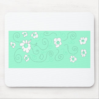flowers draw mouse pad