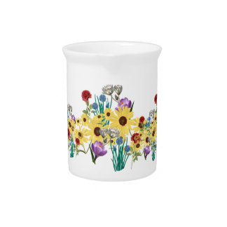 FLOWERS DRINK PITCHER