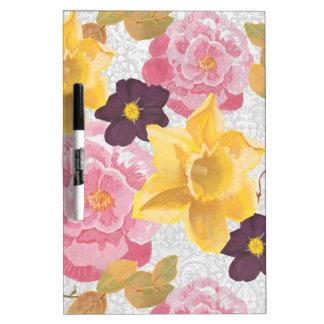 Flowers Dry-Erase Board