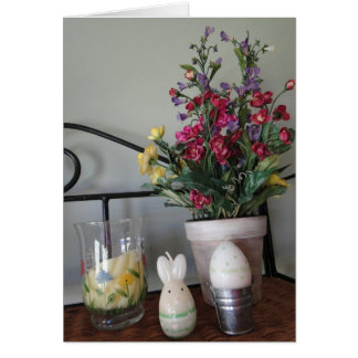 Flowers & Easter Decorations Stationery Note Card
