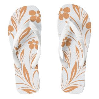 Flowers Edge | CHOOSE YOUR BACKGROUND COLOR Flip Flops