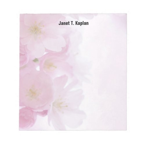 Flowers Elegant Plain Simple Professional Modern Notepad