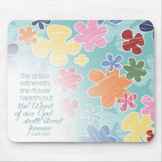 Flowers Fadeth Mousepad