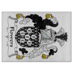 Flowers Family Crest Cutting Boards