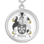 Flowers Family Crest Personalized Necklace