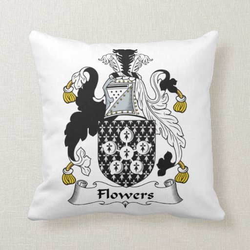 Flowers Family Crest Pillow