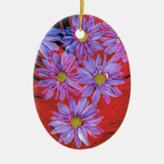 Flowers & Feathers Christmas Tree Ornament