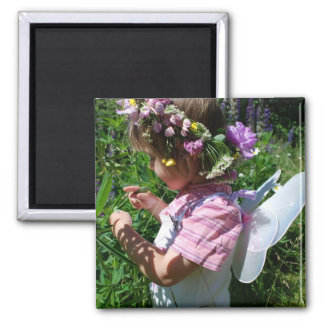 Flowers Fee 2 Inch Square Magnet