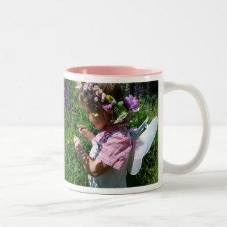 Flowers Fee Two-Tone Coffee Mug