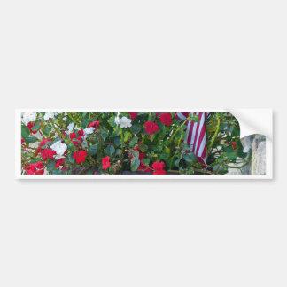 Flowers & Flags Bumper Sticker