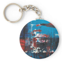 Flowers floating in the river keychain