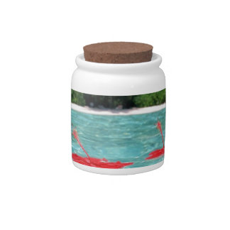 Flowers Floating in Water - Great Gift Idea Candy Jar
