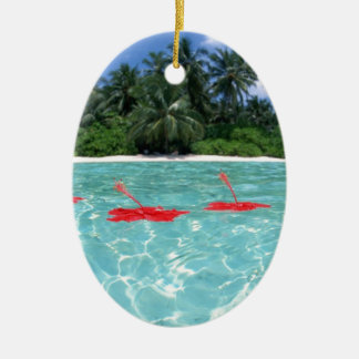 Flowers Floating in Water - Great Gift Idea Ceramic Ornament