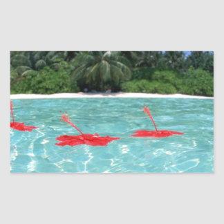 Flowers Floating in Water - Great Gift Idea Rectangular Sticker