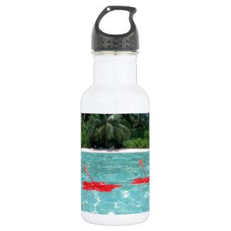 Flowers Floating in Water - Great Stainless Steel Water Bottle