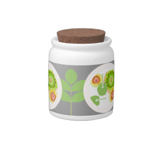 flowers floating Jar by FRenee2 Candy Dish