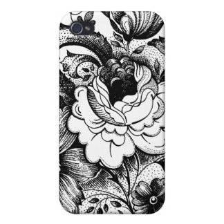Flowers Floral Black White Art iPhone 4/4S Cover
