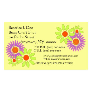 "Flowers Floral ""CRAZY-DAZY"" CRAFT BUSINESS CARD"