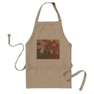 Flowers Floral Decor Soft Decorative Kitchen Apron Standard Apron