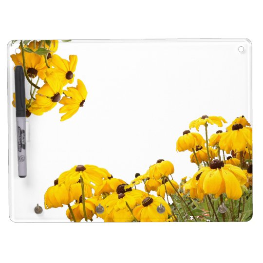 Flowers Floral Garden Blossom Photography Dry Erase Board With Keychain Holder