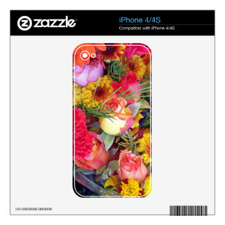 Flowers Floral Garden Photography Skin For iPhone 4S