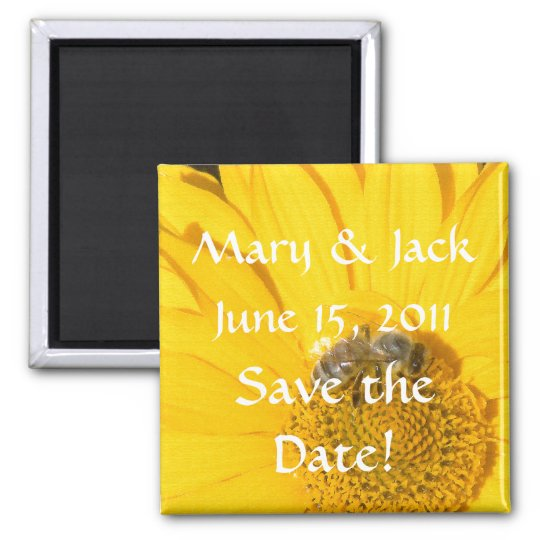 Flowers Floral Garden Save the Date Magnet