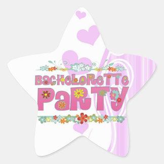 flowers floral hippie bachelorette party bridal star sticker