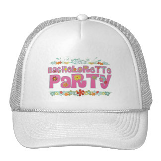 flowers floral hippie bachelorette party bridal trucker hat
