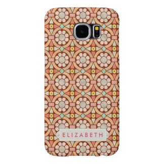 Flowers Floral Pattern Antique Pink Personalized Samsung Galaxy S6 Case