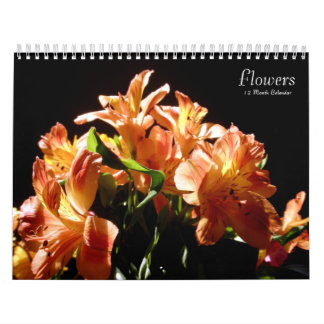 Flowers Floral Photography 12 Month Calendars