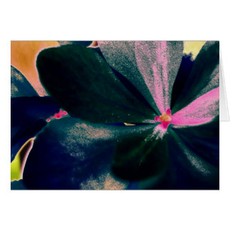 Flowers fluo card