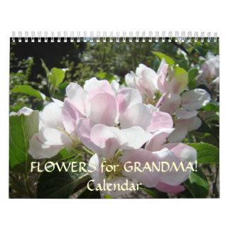 FLOWERS for GRANDMA Calendar Customize text Floral