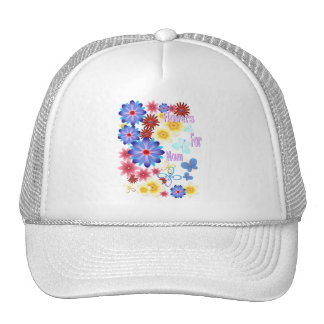 Flowers For Mom Hats