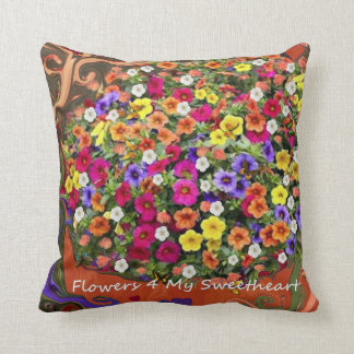 Flowers For My Sweetheart. Throw Pillow