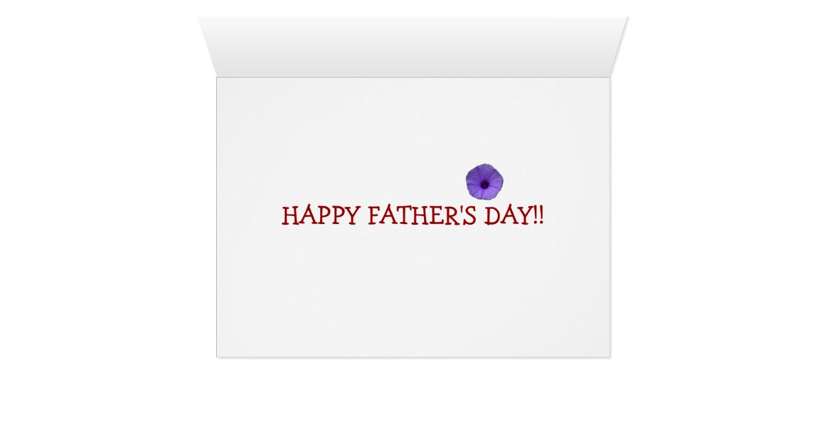 Flowers for you, Dad - Happy Father's Day Card   Zazzle