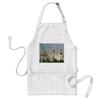 Flowers - Four Red Poppies Adult Apron
