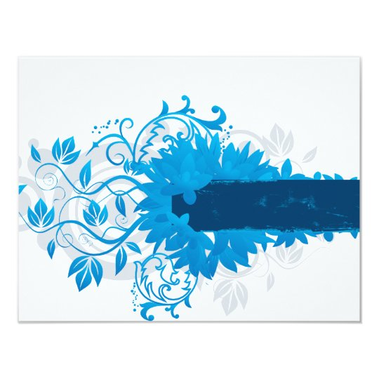 Flowers_frame-blue Card